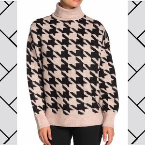 VINCE CAMUTO | houndstooth turtleneck sweater[NWT]